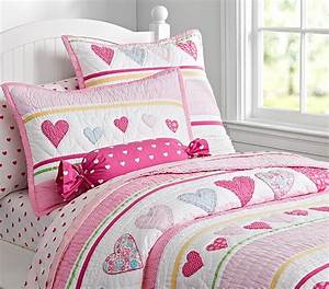 heart quilted bedding pottery barn kids With bed comforters pottery barn
