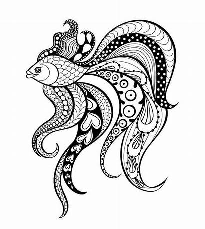Doodle Animal Fish Amazing Doodles Examples Coloring