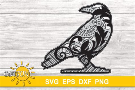 I recommend picking colours that you have cardstock for. Halloween SVG | 3D Layered Crow Mandala SVG (739661) | Cut ...