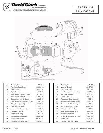 David Clark Headset Wiring Diagram Free