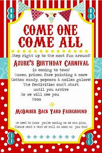 Free Printable Carnival Party Invitation Template