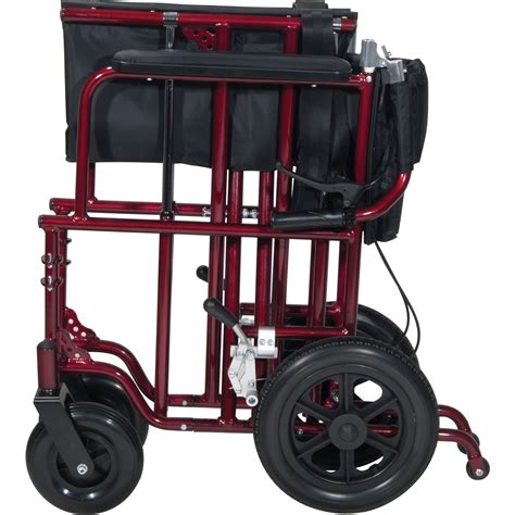 drive 22in bariatric aluminum transport chair with