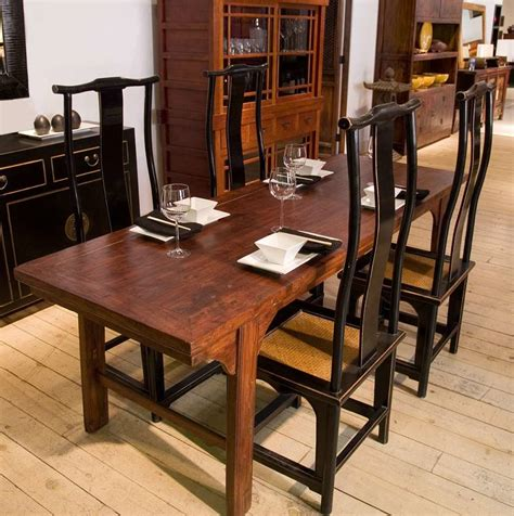 narrow dining table set  benches  indoor furniture