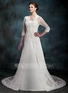 forme princesse traine mi longue satine robe de mariee With robe de mariée mi longue