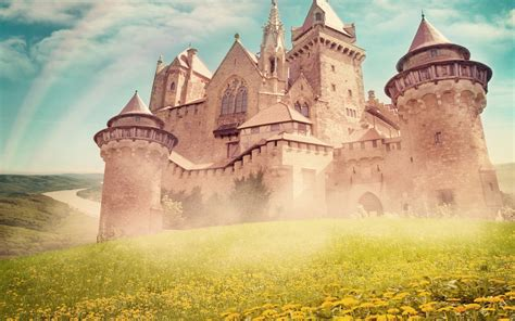 wallpaper castle fairy tale ancient architecture