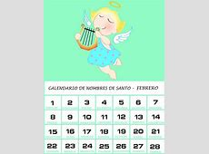 Calendario de Nombres de Santo – Febrero 2018