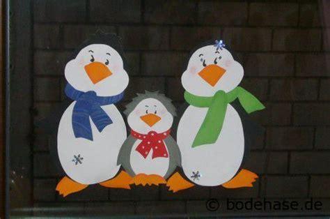 basteln weihnachten tonpapier fensterbild mit pinguinen for the home basteln weihnachten fenster bastelvorlagen