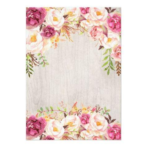 beautiful pink floral baptism invitation zazzlecom