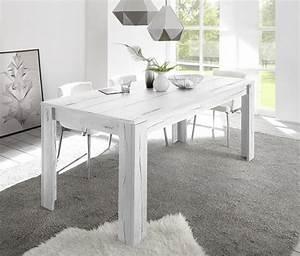 Table Chene Blanchi : table de repas palma goa ch ne blanchi l 140 x h 79 x p 90 ~ Teatrodelosmanantiales.com Idées de Décoration