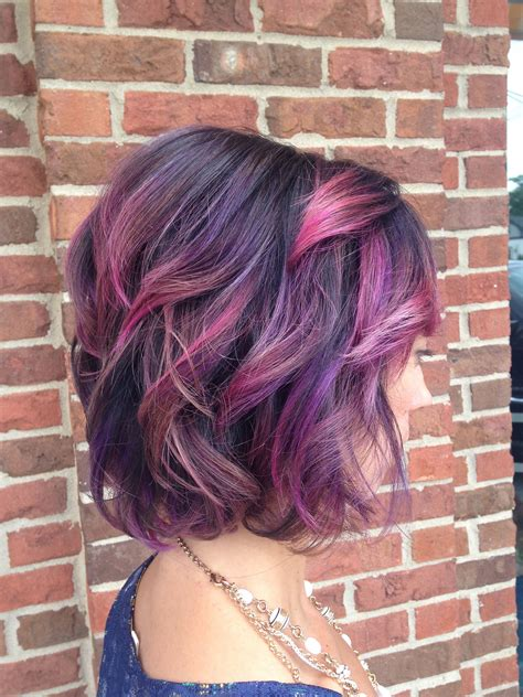 Pink And Purple Ombre Hair Magenta Hair Hair Color
