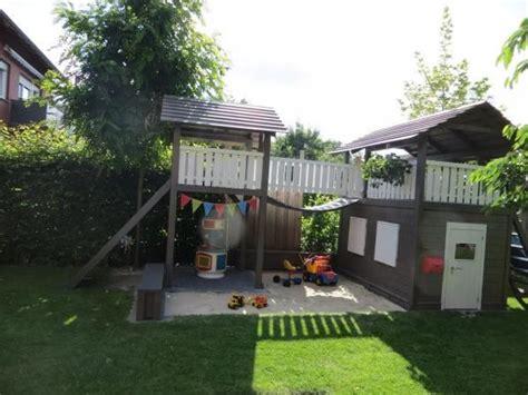 kinderspielhaus mit sandkasten die obi selbstbauanleitungen outdoor spielhaus garten spielturm garten und gartenspielhaus