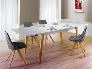 Table Salle A Manger Scandinave Occasion : table extensible l250cm pretty table de salle manger auchan ~ Teatrodelosmanantiales.com Idées de Décoration