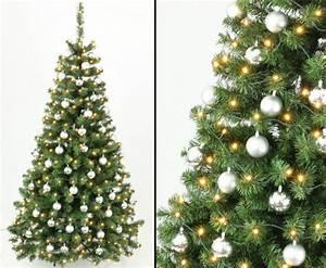 Künstliche Weihnachtsbäume Kaufen : k nstliche weihnachtsb ume 210cm mit christbaumkugeln silb g nstig kaufen ~ Indierocktalk.com Haus und Dekorationen