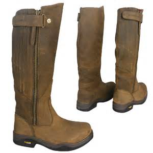 s boots uk waterproof equestrian waterproof leather stable yard boots size uk 3 8 ebay
