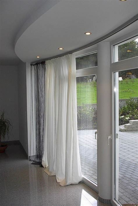 Deckenschiene Vorhang gardinen fotos gardinen fur erker fotos home interior referenz