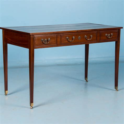 antique 19th century english mahogany writing desk with