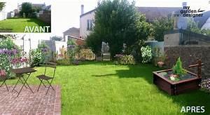 amenager un jardin carre en ile de france monjardin With amazing idee amenagement jardin devant maison 9 amenager une entree de maison moderne