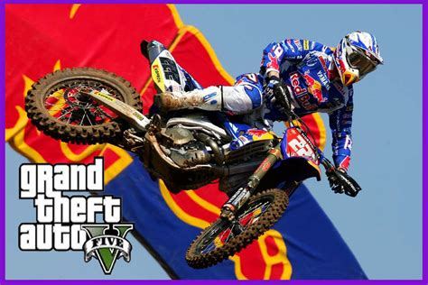 red motocross gta5 motocross red bull mod youtube