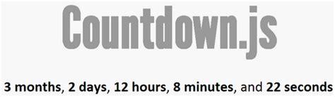 countdownjs javascript api accurate intuitive description
