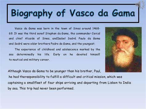 Vasco Da Gama Biography by Vasco Da Gama 1 Ingles