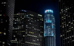 Los Angeles LA Buildings Skyscrapers Night wallpaper ...