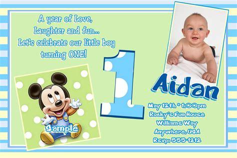 printable mickey mouse st birthday invitations