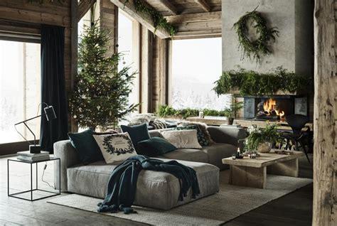 weihnachten im chalet stil festliche deko mit alpen