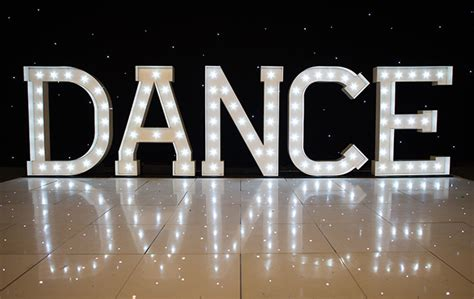 light  dance letters illuminated dance letters big