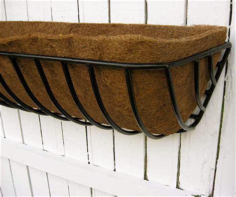 "Iron Window Boxdeck Planter 44"" Wcoco Fiber Liner Ebay"