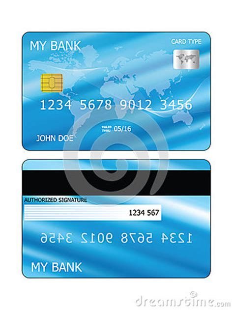 credit card stock vector image