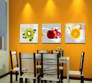 Aliexpresscom buy canvas art kitchen wall art fruit for Best brand of paint for kitchen cabinets with frames for canvas wall art