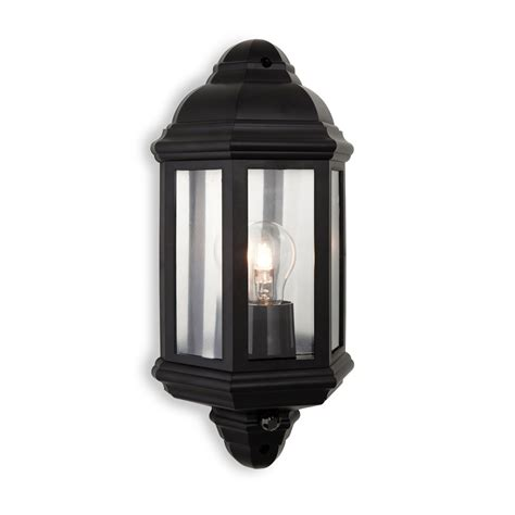 firstlight 8656bk park 1 pir light black outdoor wall light