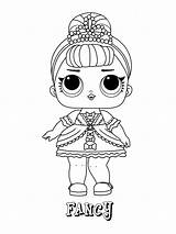 Lol Coloring Pages Doll Surprise Fancy Dolls Printable Games Coloringonly Series Foxy sketch template