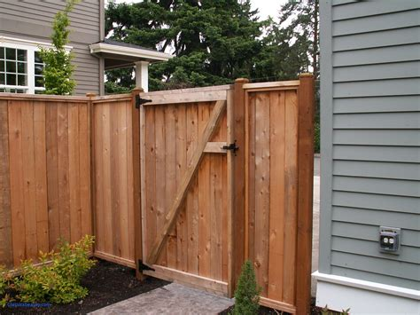 Wood Fence Door Design