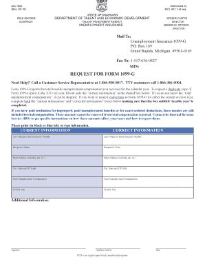 Michigan Form 1099 G by Uiaofi Fill Online Printable Fillable Blank Pdffiller