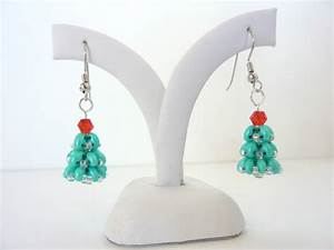 Free Beading Pattern For Christmas Tree Earrings