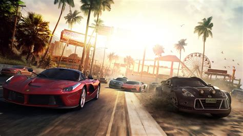 Full Hd Wallpaper The Crew Sports Car Ferrari Palm Race