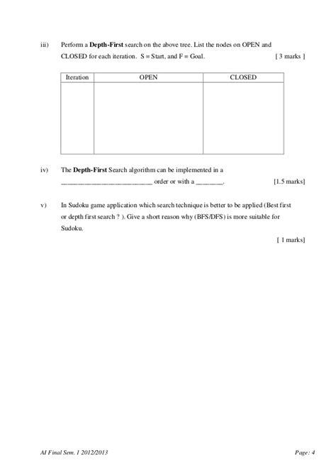 SCSJ3553 - Artificial Intelligence Final Exam paper - UTM
