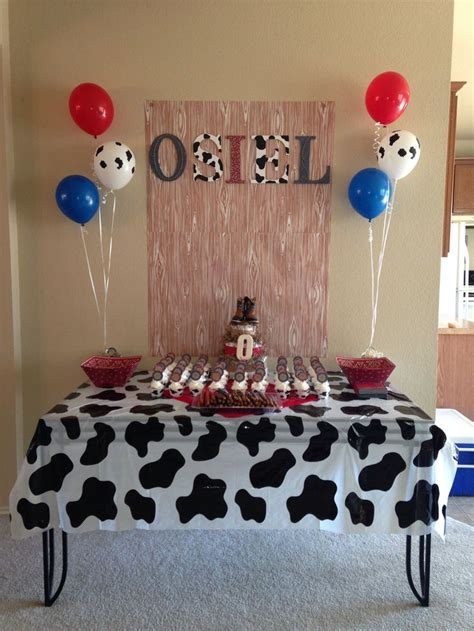 Western Baby Shower  Bandanna And Cow Print Theme