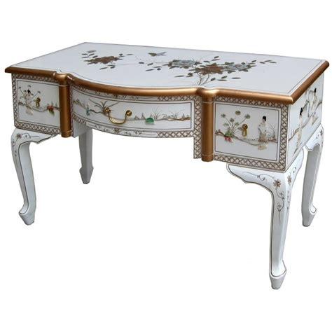 bureau asiatique bureau blanc laque chinoise 3 tiroirs magasin du meuble