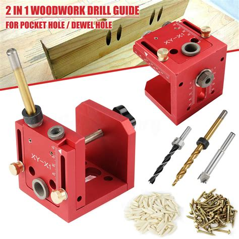 pocket hole jig dowelling drill guide diy woodworking