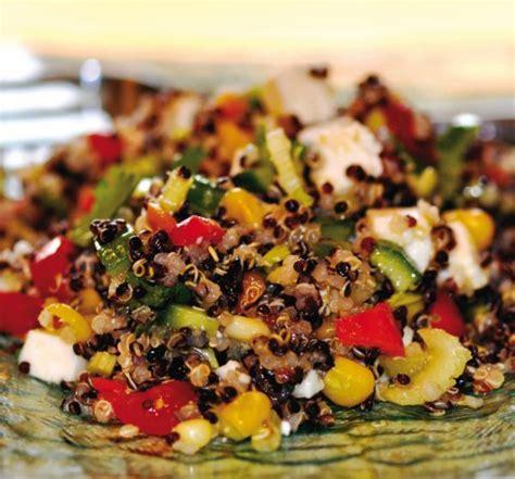 hache de cuisine salade de quinoa et de légumes châtelaine