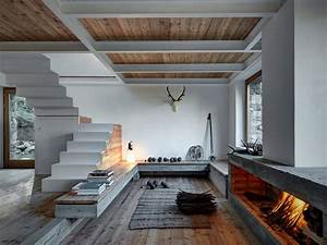 Natural Elements Like Stone  Larch And Iron Creating An Amazing House In The Alps