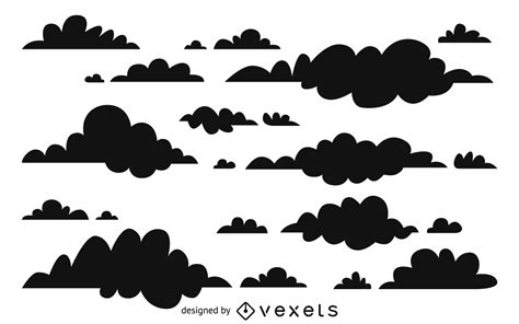 cloud silhouettes background design vector
