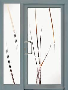 portes d39entree modeles panneaux en verre trendel With porte d entrée en verre securit