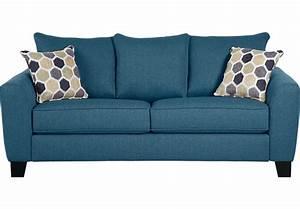 Bonita Springs Blue Sofa - Sofas (Blue)