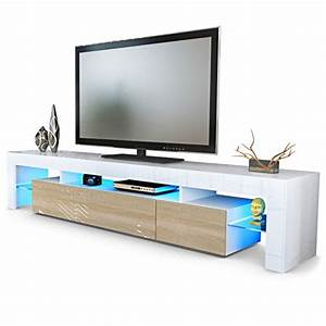 Tv Board Weiß Eiche : tv board lowboard lima v2 in wei eiche s gerau wohnwand ~ Somuchworld.com Haus und Dekorationen