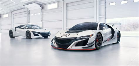 new acura nsx gt3 rwd races into new york auto show