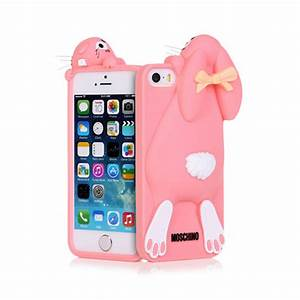 Iphone 4/5/5s Cute Protective Crouching Rabbit Bowtie ...