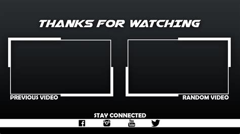Outro Template Free Outro Template For 5 I 2017